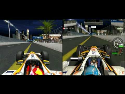 f1 challenge & rfactor mod 2009 & 2008