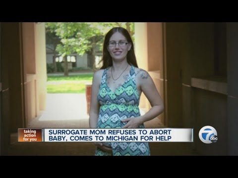 Surrogate mom refuses to abort baby, comes to Michigan for help