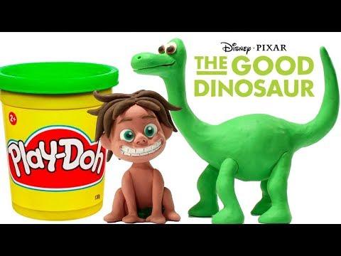 FUNNY KIDS MEET THE GOOD DINO ❤ Play Doh Cartoons For Kids