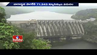 Water Level Increased In Sri Sailam Dam..