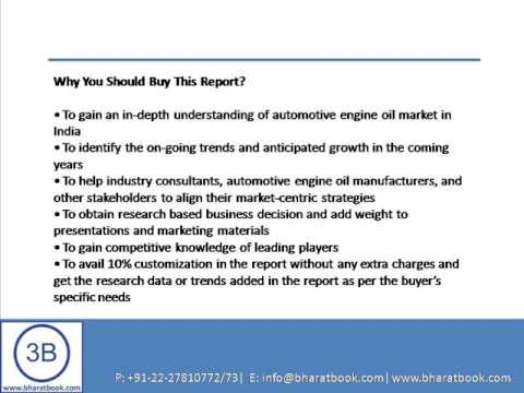 Bharat Book Presents : India Automotive Engine Oil Market Forecast & Opportunities