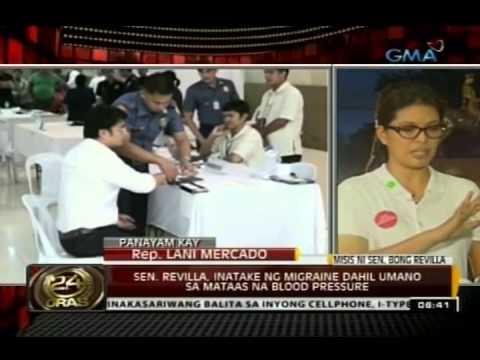 Panayam kay Rep. Lani Mercado-Revilla: Sen. Revilla, inatake ng migraine