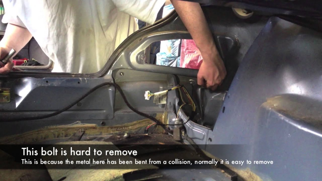Peugeot 406 Rear Bumper Removal Youtube