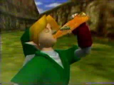 The Legend of Zelda: Ocarina of Time - Mirinda commercial -, A Legend of Zelda: Ocarina of Time 90's mexican ad from Mirinda. As for many who ask why is it in arabic at the end, then could you please tell me why the bo...