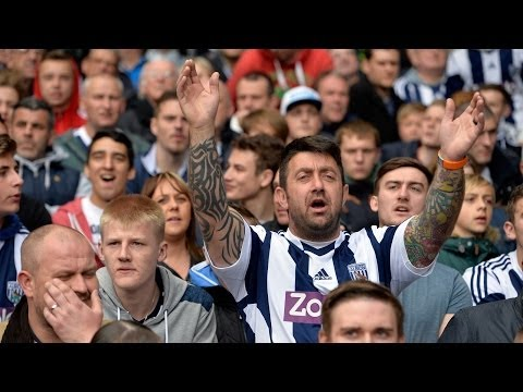 FAN CAM: West Bromwich Albion fans celebrate beating West Ham 1-0 in the Premier League
