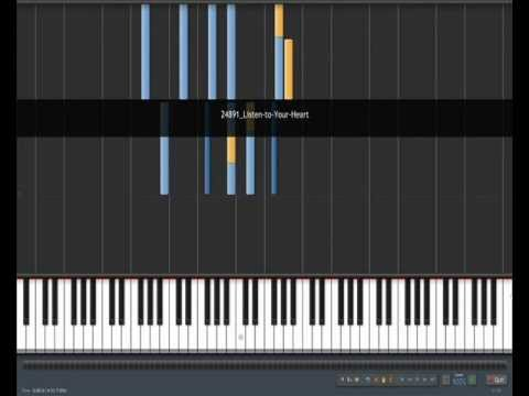 Roxette- Listen To Your Heart (Piano Tutorial)