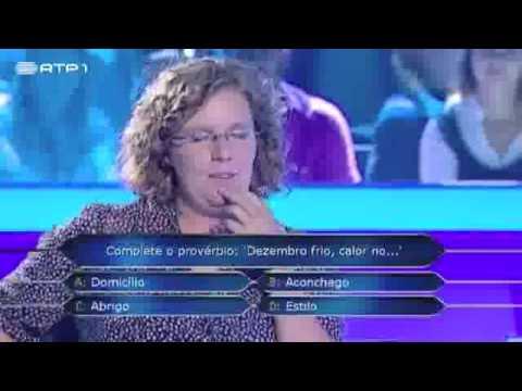 GRANDE BARRACADA NA TV | 'Quem Quer Ser Milionário' (RTP) confunde provérbio.