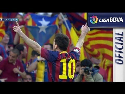 El marcador muestra a Messi como máximo goleador del Barça, superando a Paulino Alcántara