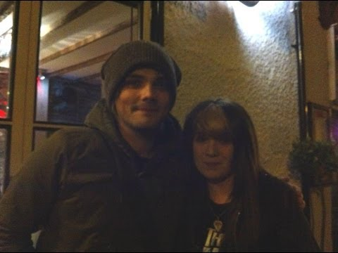 Meeting Gerard Way! Wales Rhayader 21/02/14
