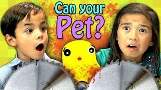 CAN YOUR PET? (Kids React: Gaming)