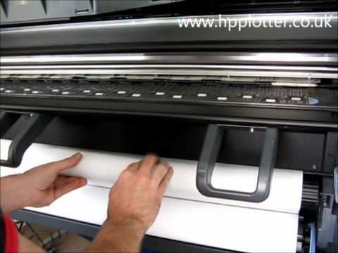 Designjet 4000/4000PS Series - Load paper/media roll on your printer