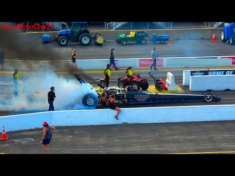 DIESEL DRAGSTER LOUD SOUND OF NITRO FUNNY CARS  SMOKING TIRES  DRAG RACING