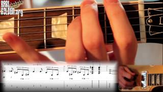 'HALO' - Main Riff Lesson - SLASH - With Tabs On Screen - (Karl Golden)