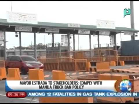 [NewsLife] Mayor Estrada to stakeholders: Comply with Manila truck ban policy || Feb. 28, '14