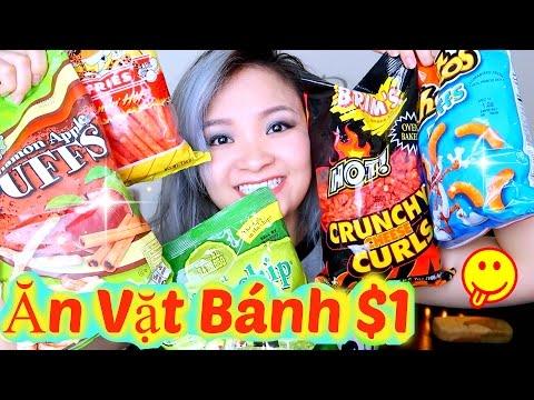 Trying American Snacks | Thử Đồ Ăn Vặt Bánh Mỹ 1 Đô ♡ BeeSweetiee