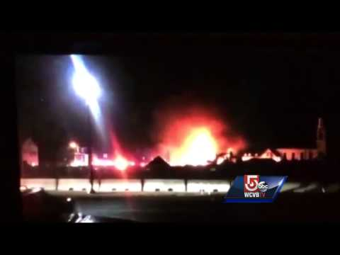 2 Mass. firefighters injured battling blaze