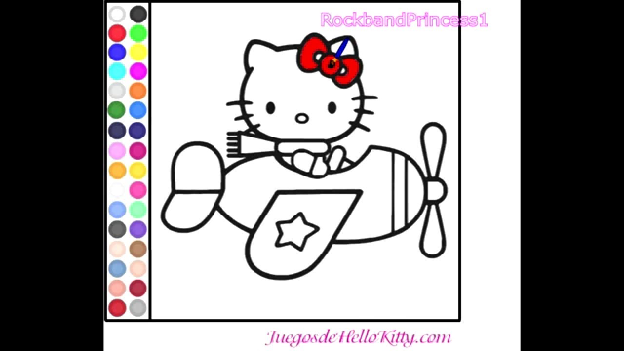 Hello Kitty Online Games Hello Kitty Coloring Game