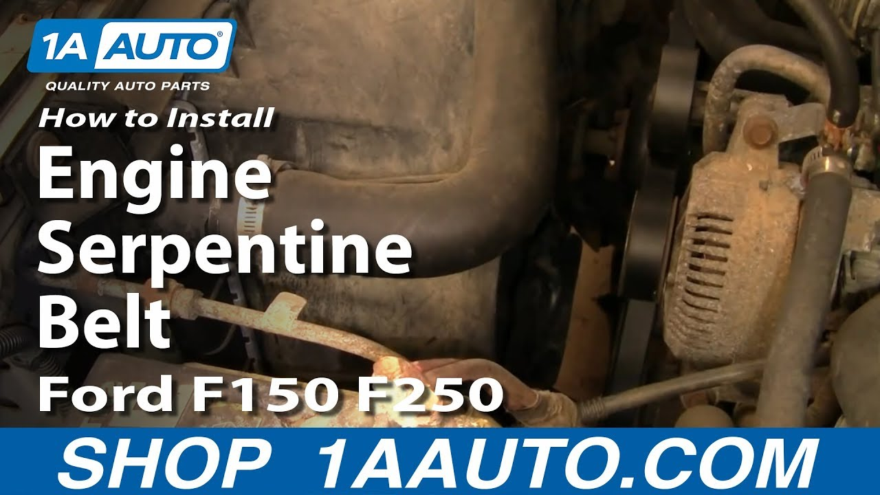 install replace engine serpentine belt ford