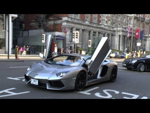 Arab Lamborghini Aventador Driving with Doors up & Crazy Revving | Huge Accelerations!!