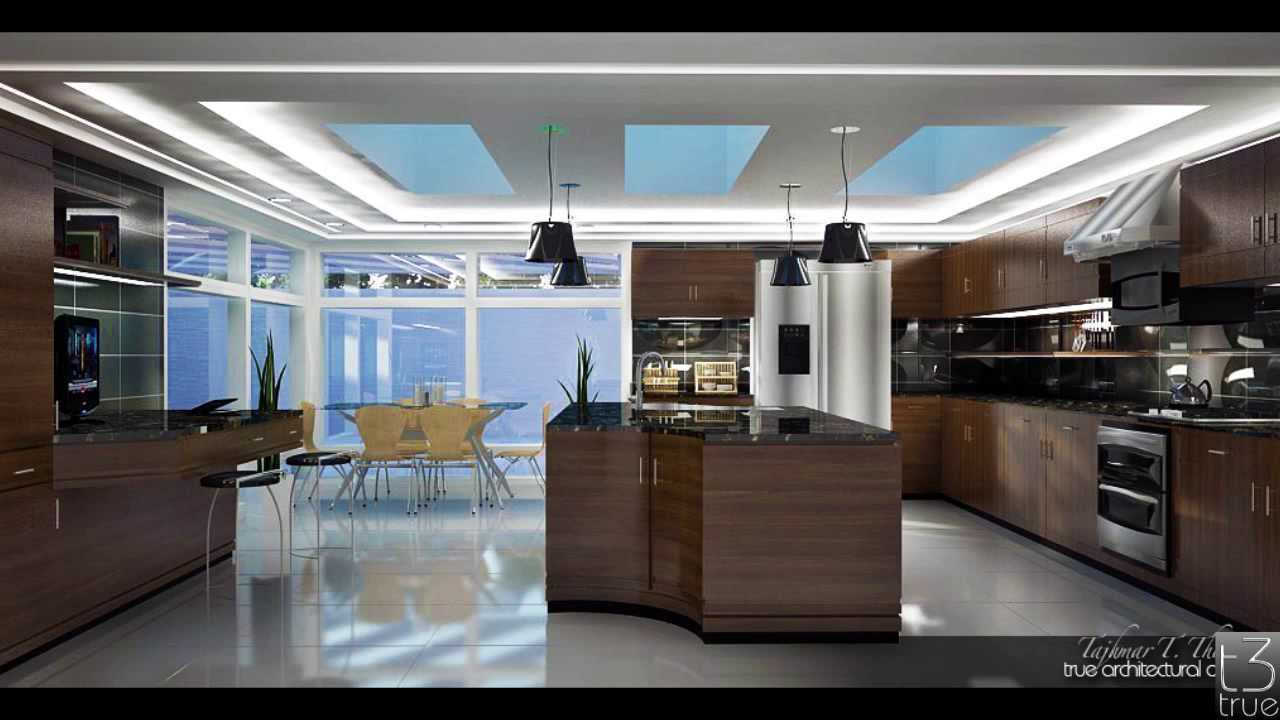 Custom Kitchen Design Vray Render Sketchup Youtube