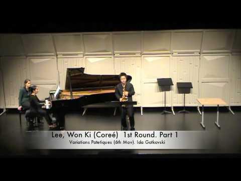 Lee, Won Ki (Coreé) 1st Round. Part 1