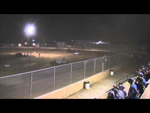 Trail-Way Speedway 358 Sprint Car Highlights 7-18-14