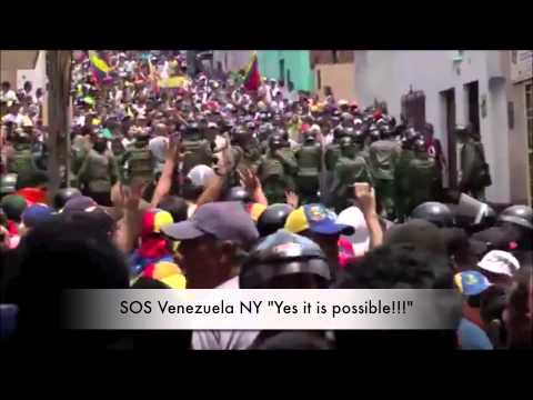 Peaceful Protest In Venezuela chants