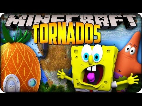 Minecraft Mods - EXTREME TORNADOS HIT BIKINI BOTTOM!? - Weather & Tornados Mod Showcase