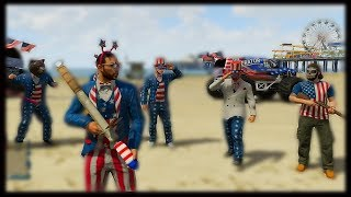 GTA 5 Funny Moments - Independence Day Battle - Fireworks In GTA V Online ! (GTA 5 Gameplay)