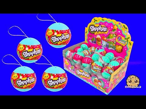 Shopkins Baubles Holiday Christmas Blind Bag Ornament Balls Unboxing Cookieswirlc Video