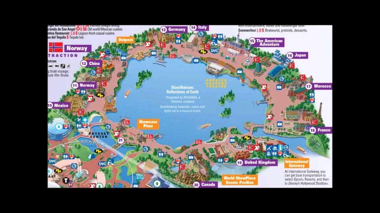 EPCOT`s World Showcase Interactive Map - YouTube
