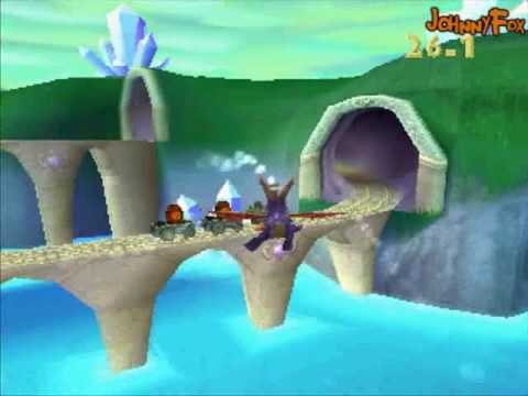 Spyro the Dragon -05- Sunny Flight, Second most difficult task of the game is to find this level. You'll never guess what I thought to be the most difficult.