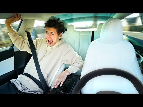 Self Driving Car PRANK On Little Brother (Funny)