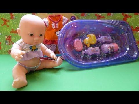 Chị Bí Đỏ Tắm Cho Búp bê Em Bé /Baby Doll  Bathtub Set New Pajama