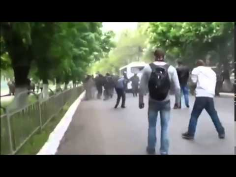 Violence in Mariupol, Donetsk region of Ukraine, May 2014