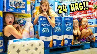 WE SPENT 24 HOURS OVERNIGHT AT COSTCO!!