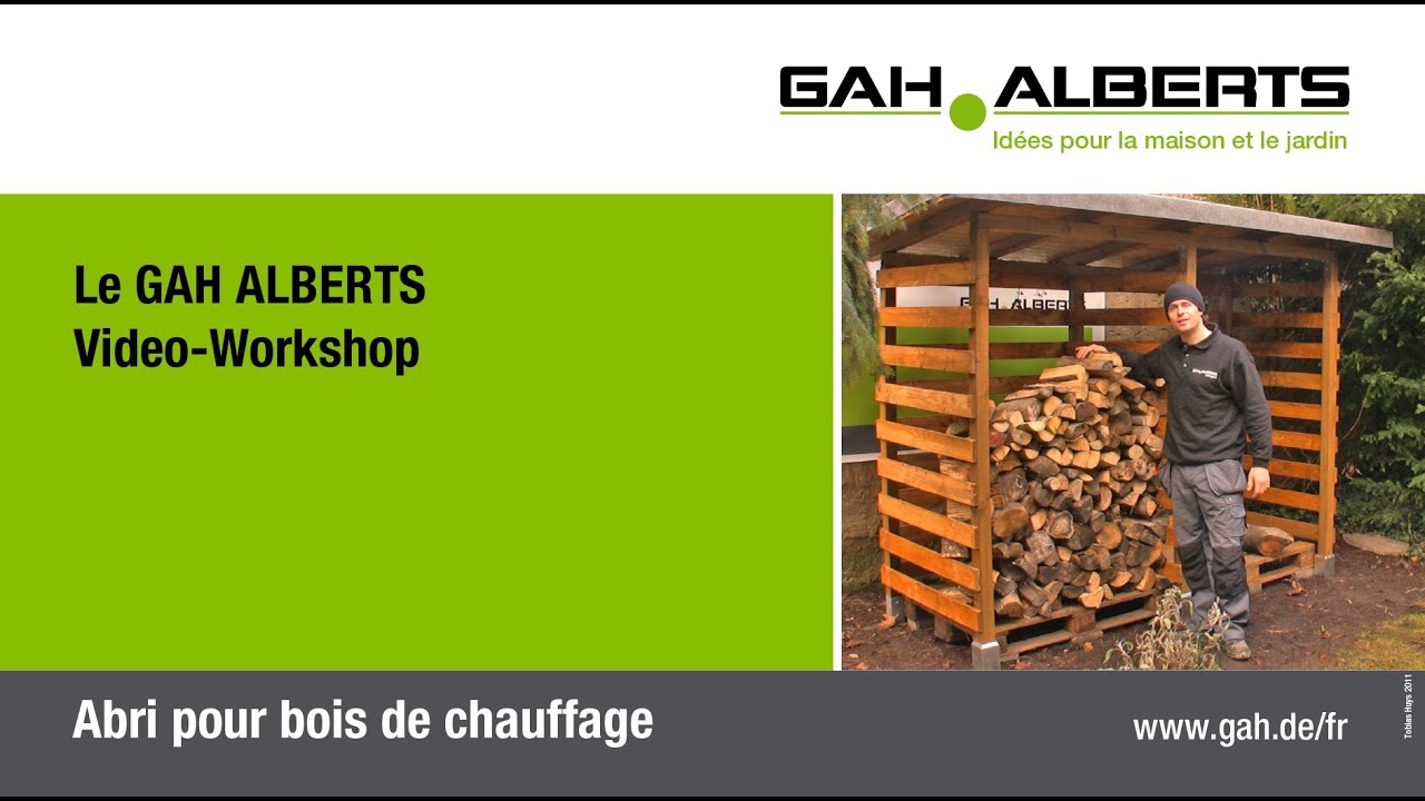 gah workshop abri pour bois de chauffage youtube. Black Bedroom Furniture Sets. Home Design Ideas