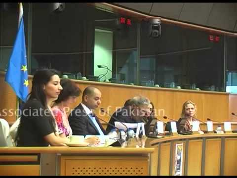 Farzana Yaqoob AJK Minister Attend Kashmir Women Conferance At European Parliament Brussles 07 April