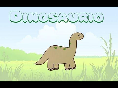 Cómo dibujar un dinosaurio. Dibujos para niños.
