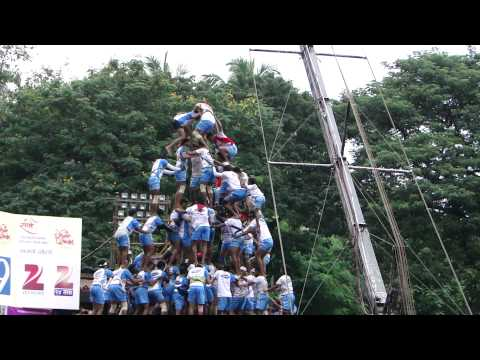 9 thar dahi handi by Jai Jawan jogeshwari at shangharsha thane Aun 2011.MP4