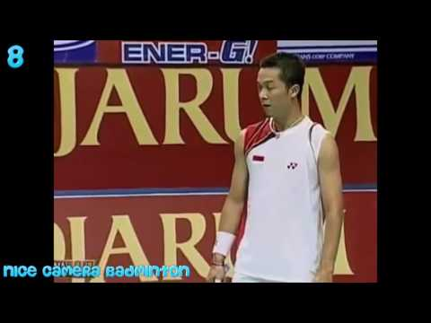 Top 20 best rallies badminton men's singles  Lin Dan, Lee Chong Wei, Taufik Hydayat, Chen Long