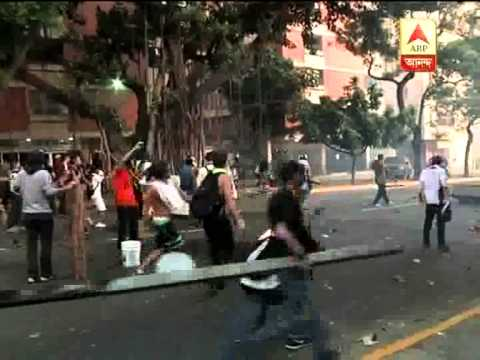 Anti Government protest  and clash in Venezuela