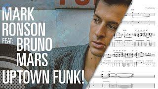 Clarinet Uptown Funk Mark Ronson Sheet Music, Chords
