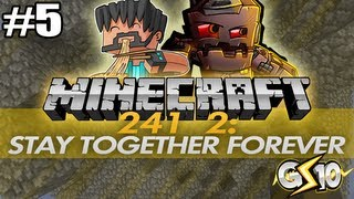 Minecraft Stay Forever Together 2 w/ Graser & Thinknoodles Part 5 - Minecart Hopping