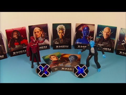 2014 X-MEN DAY'S OF FUTURE PAST SET OF 5 CARL'S Jr. KID'S MEAL MOVIE TOY'S VIDEO REVIEW
