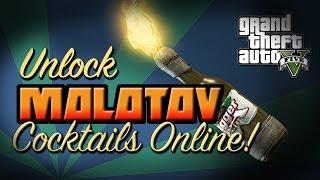 GTA V: UNLOCK MOLOTOV COCKTAIL CROWBAR AND NINE IRON FOR