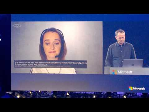 Skype Translate Demo at WPC 2014