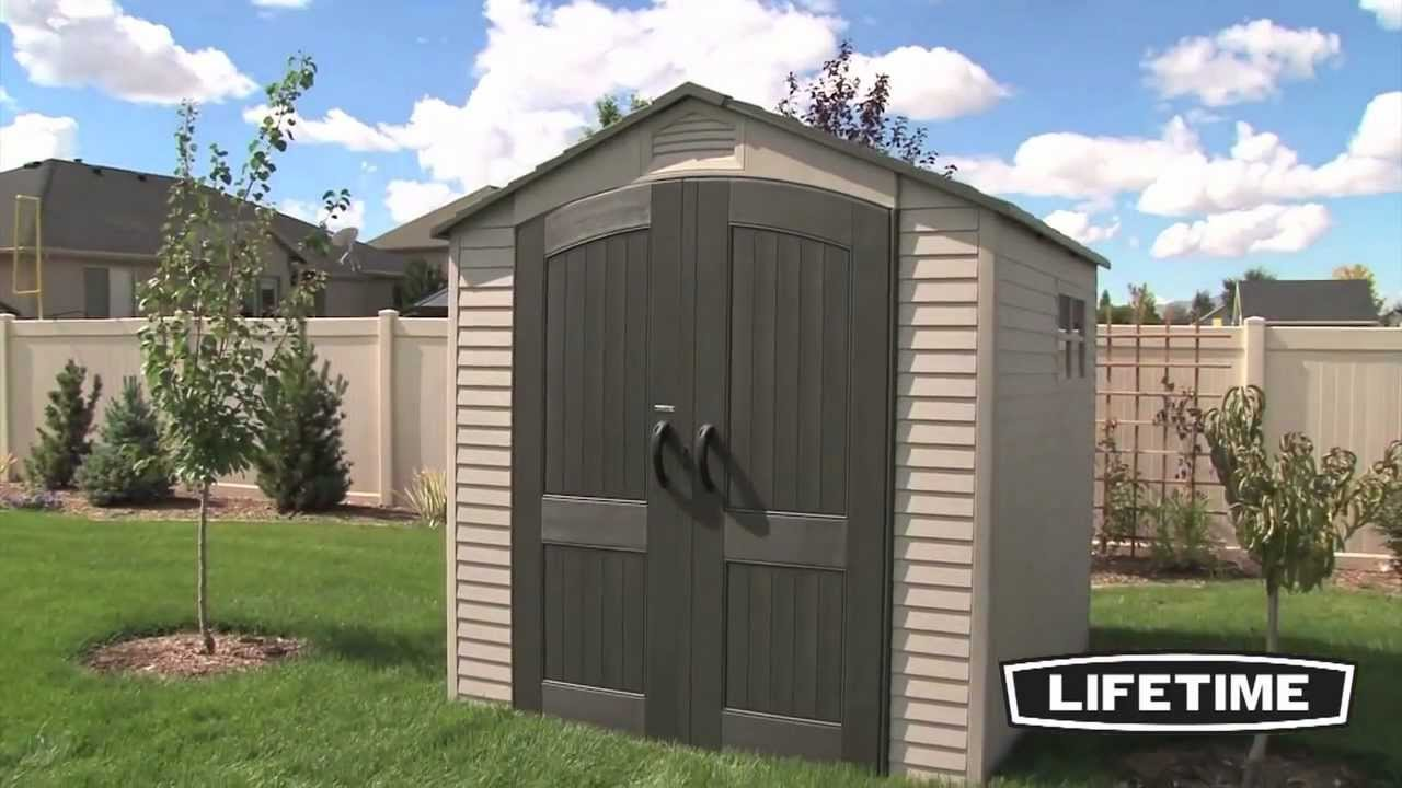 Lifetime outdoor storage shed 7x7, cheap storage buildings ...