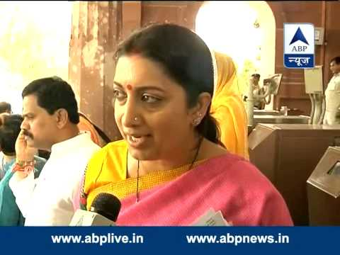 Smriti Irani praises schemes for women and education