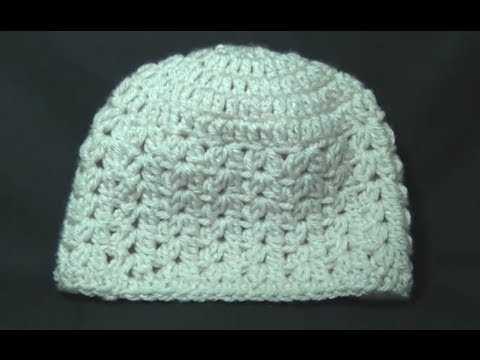 Crochet Stitches Tutorial Youtube : Cluster V Stitch Hat Crochet Tutorial - YouTube